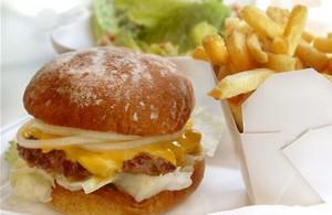 hamburguesa y papas