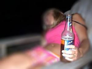 mujer borracha