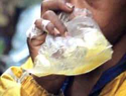 pegamento - inhalantes
