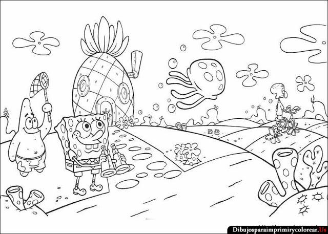 10. Dibujos de Bob Esponja para Imprimir y Colorear - 10puntos